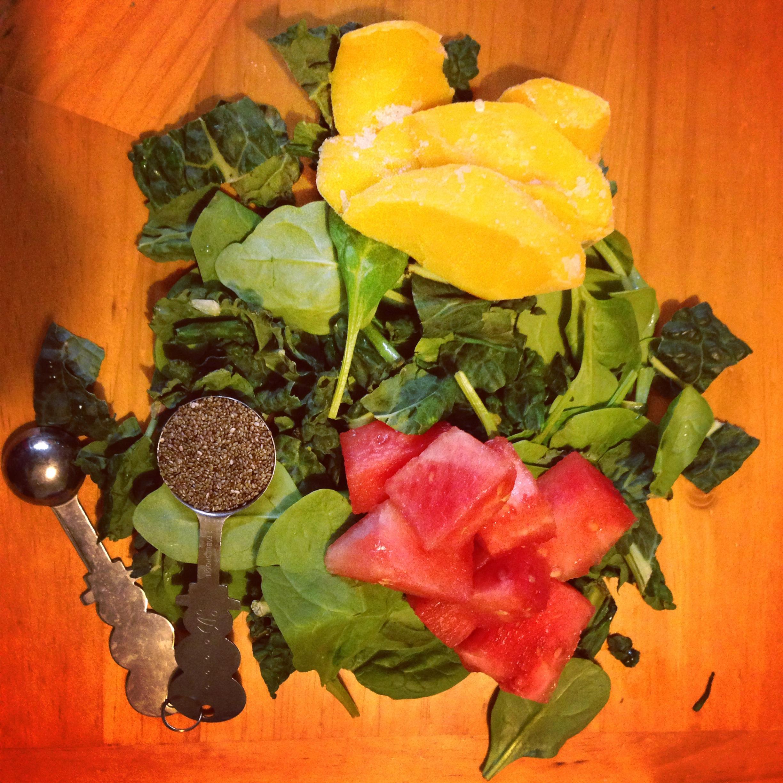 green melon fruit healthy frozen fruit smoothie